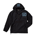 Monogrammed Ladies Black Wind Breaker