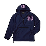 Monogrammed Ladies Navy Wind Breaker