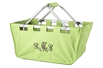 Personalized Lime Green Market Tote