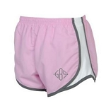 Monogrammed Running Shorts Pink and Gray