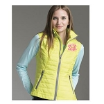 Monogrammed Lime Green Puffy Vest