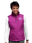 Monogrammed Berry Puffy Vest