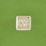 Square Signet Monogrammed Silver Ring
