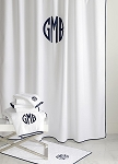 Monogrammed Chiaro Shower Curtain By Matouk