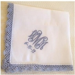 Monogrammed Ladies' 'Something Blue' Handkerchief