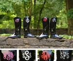 Women's Embroidered Rain Boots
