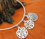 Bangle Bracelet with up to 4 Monogrammed Charms