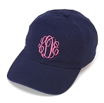 Navy Blue Monogrammed Ball Cap