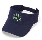 Monogrammed Ladies' Navy Visor