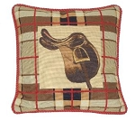 Equestrian Saddle Needlepoint Pillow