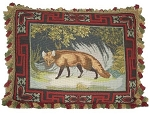 Fox Hunting Themed Needlepoint Pillow