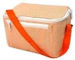 Monogrammed Orange Seersucker Rectangle Lunchbox