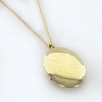 Monogrammed Oval Gold-Tone Locket