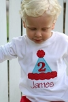 Personalized Child's Birthday Hat Shirt