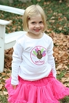 Child's Personalized Girl's Thanksgiving Turkey Shirt
