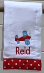 Personalized Airplane Burp Cloth