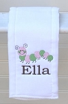 Custom Personalized Preppy Caterpillar Burp Cloth