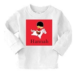 Personalized Child's Red Hunter Jumper Shirt