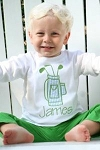 Child's Personalized Golf Bag Applique Shirt