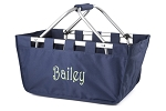 Personalized Navy Blue Market Tote