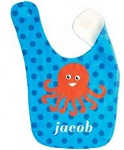 Personalized Octopus Baby Bib For Boys