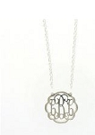 Petite Flourish Sterling Silver Monogram Necklace