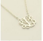 Petite Interlocking Sterling Silver Monogram Necklace