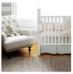 Monogrammed Picket Fence Baby Bedding