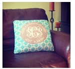 Monogrammed Decorative Pillow Cover