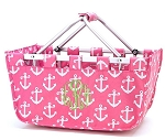 Personalized Pink Anchor Market Tote
