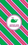 Personalized Lightweight Child's Beach Towel-Pink and Green Whale