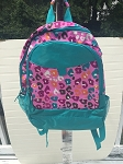 Personalized Pink Leopard Backpack-Big Kid Size