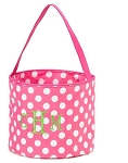Personalized Pink Polka Dot Easter Bucket