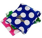 Monogrammed Polka Dot Beach Towel