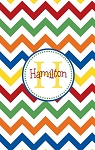 Personalized Lightweight Child's Beach Towel-Primary Color Chevron
