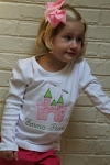 "Child's Personalized ""Princess Castle"" Applique Shirt"