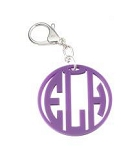 Circle Cutout Acrylic Key Ring