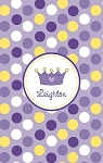 Personalized Lightweight Child's Beach Towel-Purple Tiara