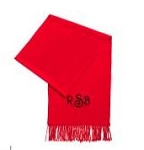 Red Monogrammed Scarf