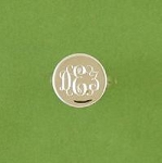 Round Monogrammed Silver Ring