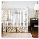 Monogrammed Safari Baby Bedding in Sand