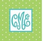 Monogrammed Screen Printed Plush Blanket