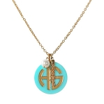 Monogrammed Serendipity Acrylic Necklace