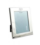 Monogrammed 5x7 Silver Picture Frame