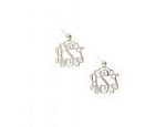 Small Monogrammed Sterling Silver Filigree Earrings