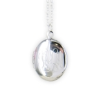 Monogrammed Small Oval Silver-Tone Locket