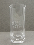 Monogrammed 16 oz Tall Acrylic Glass