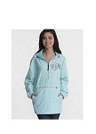 Monogrammed Ladies Aqua Wind Breaker