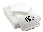 Monogrammed Bath Towel Set (Wash, Hand, Bath)
