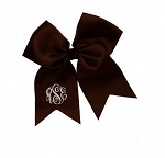 Chocolate Monogrammed Hairbow